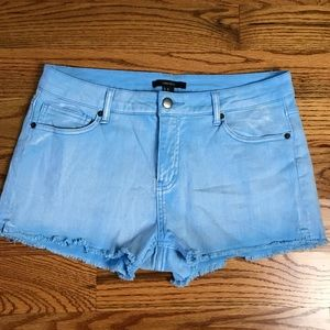 Blue Denim Cutoff Shorts